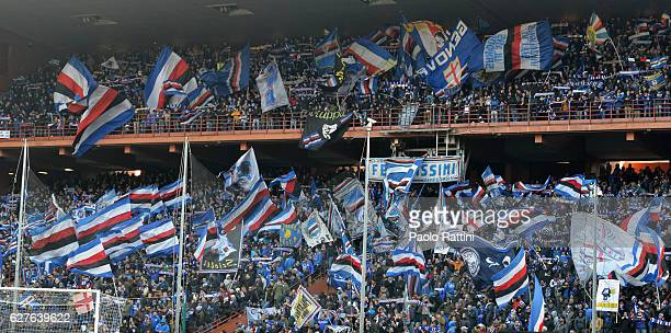 Sampdoria supporters during the Serie A match between UC Sampdoria and FC Torino at Stadio Luigi Ferraris on December 4 2016 in Genoa Italy