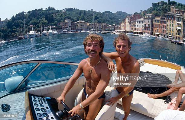 Sampdoria's Graeme Souness and Trevor Francis take a break in Portofino Italy on 22nd July 1984