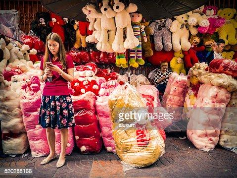 Sampeng Lane Market In Chinatown Bangkok Stock Photo ...