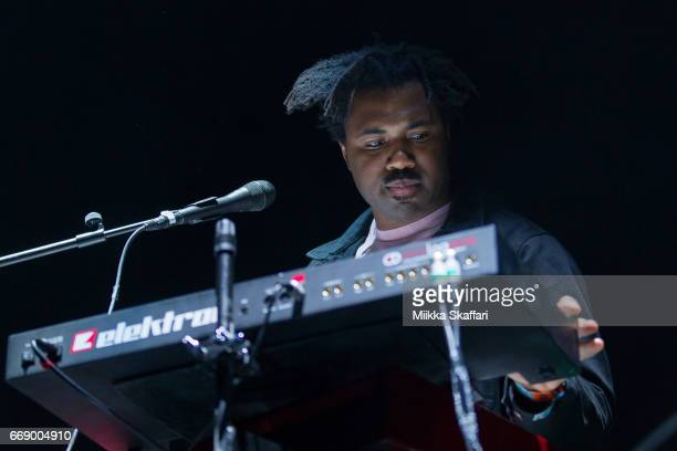 Sampha performs at Bill Graham Civic Auditorium on April 15 2017 in San Francisco California