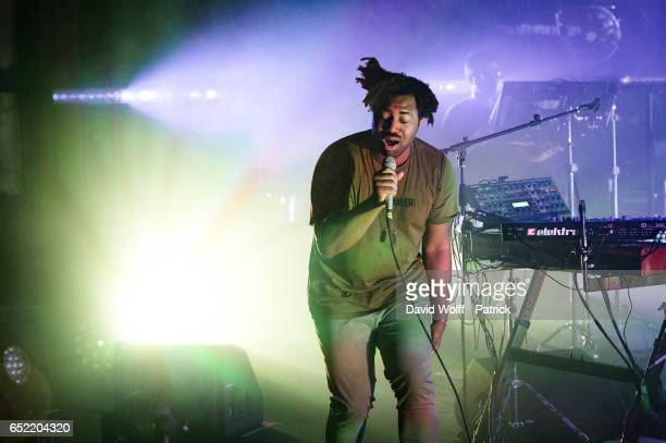 Sampha performs at La Cigale on March 11 2017 in Paris France