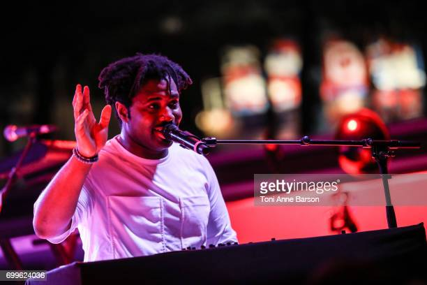Sampha performs at Spotify Beach Party during Cannes Lions at Spotify Beach House on June 21 2017 in Cannes France