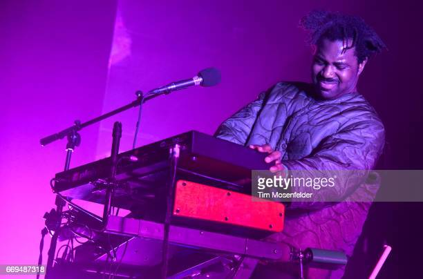 Sampha performs in support of his 'Process' release at Bill Graham Civic Auditorium on April 16 2017 in San Francisco California