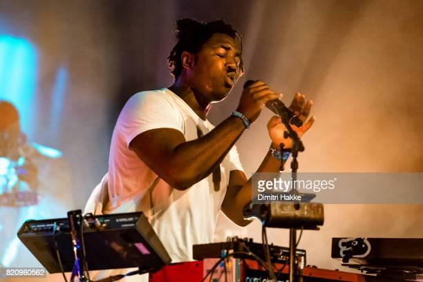 Sampha performs on stage at Port of Rotterdam North Sea Jazz festival at Ahoy on July 08 2017 in Rotterdam Netherlands