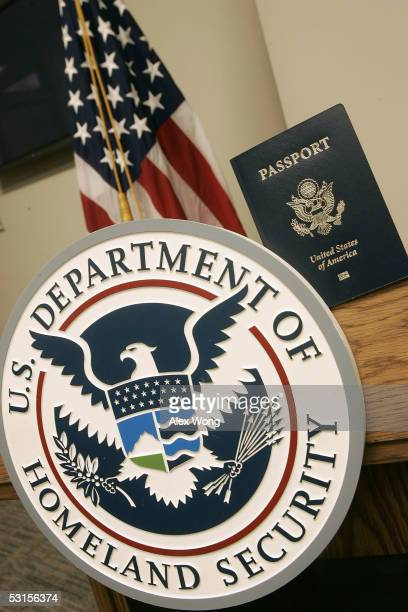 A sample copy of a United States epassport which contains computer chips with biographic and biometric information of the holder is seen during a...