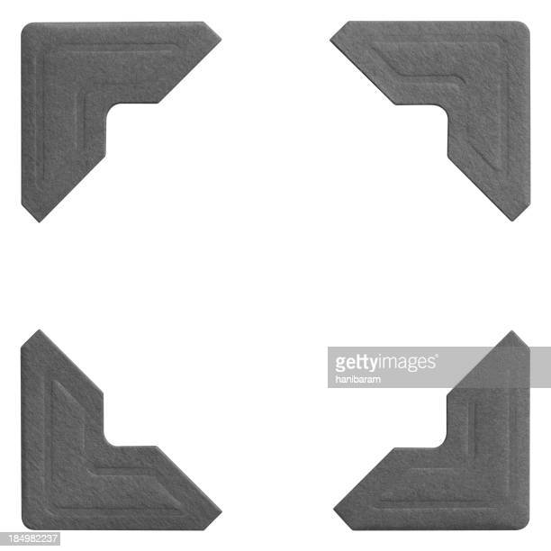 Sample images of four matching photo frame corners