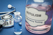 Sample of botulism in laboratory, concept of health