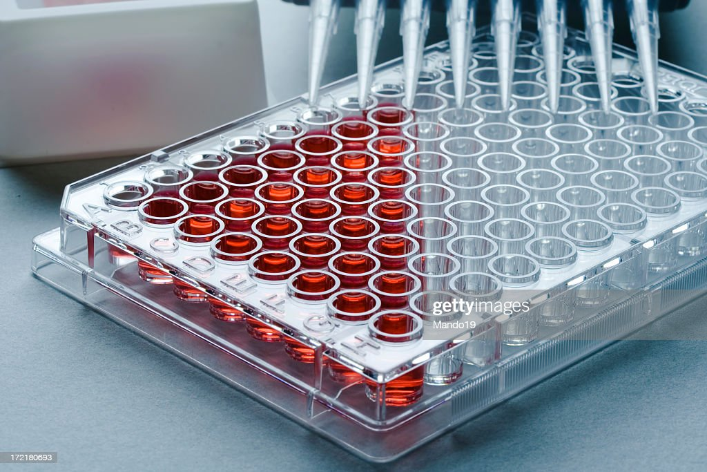 Sample tray partially filled with samples