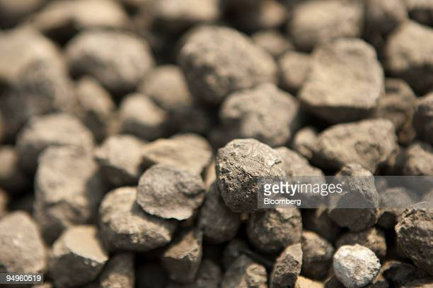 Samples of 'clinker' a kiln created product used in cement making are seen at the West China Cement Ltd plant on Wednesday September 23 2009 in Xian...