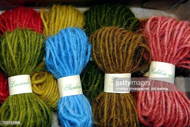 Samples of wool