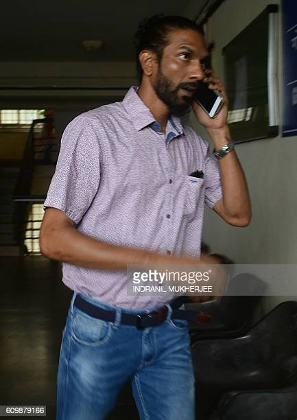 Samson D'Souza one of two Indian defendents in the case of the rape and death of British schoolgirl Scarlett Keeling in Goa in 2008 arrives at the...