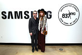 Samsung 837 Zach Overton and Florence Welch attend Samsung 837 Launch with Florence The Machine at Samsung 837 in Meatpacking District on February 22...