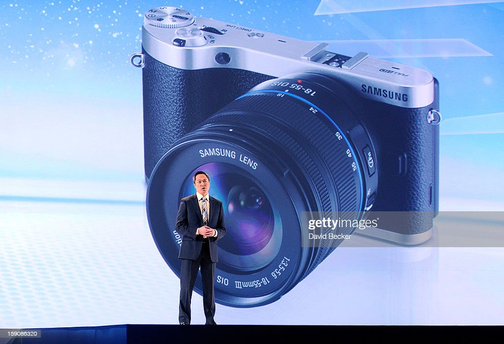 Samsung Electronics America Senior Vice President Michael Abary speaks at a press event at the Mandalay Bay Convention Center for the 2013 International CES on January 7, 2013 in Las Vegas, Nevada. CES, the world's largest annual consumer technology trade show, runs from January 8-11 and is expected to feature 3,100 exhibitors showing off their latest products and services to about 150,000 attendees.