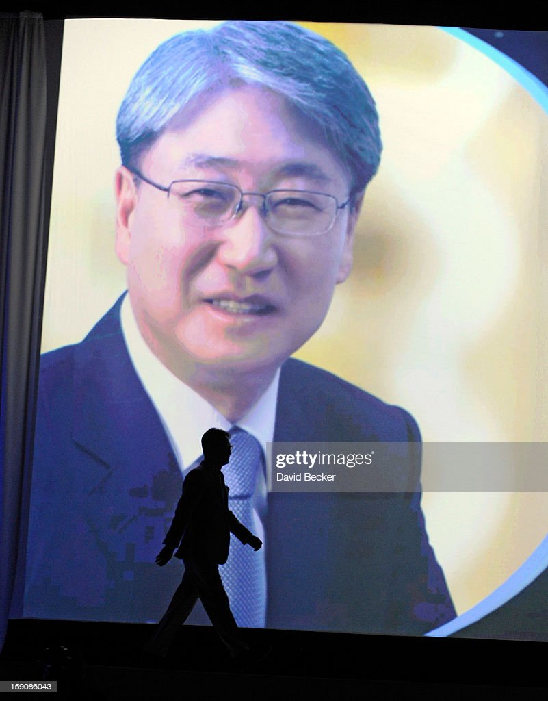 Samsung Electronics President Boo-Keun Yoon walks on stage at a press event at the Mandalay Bay Convention Center for the 2013 International CES on January 7, 2013 in Las Vegas, Nevada. CES, the world's largest annual consumer technology trade show, runs from January 8-11 and is expected to feature 3,100 exhibitors showing off their latest products and services to about 150,000 attendees.
