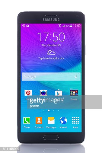 Samsung Galaxy Note 4 with Clipping path