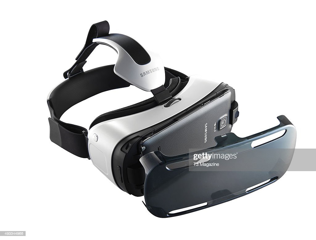 A Samsung Gear VR virtual reality headset fitted with a Samsung Note 4 smartphone taken on February 18 2015