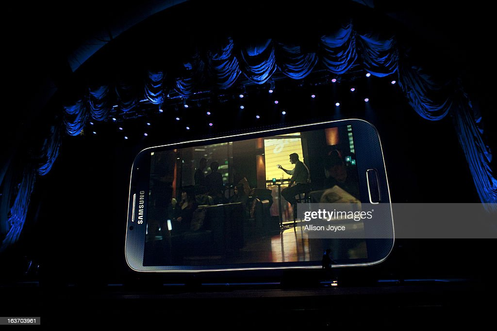 Samsung introduces the Samsung Galaxy S IV, March 14, 2013 in New York City. Samsung, the world's largest handset maker, revealed their successor to the Galaxy S III. The Galaxy S IV features a five-inch 1080p screen, a 1.9GHz quad-core processor, a 13-megapixel rear camera and ships with the latest Android version, Jelly Bean.