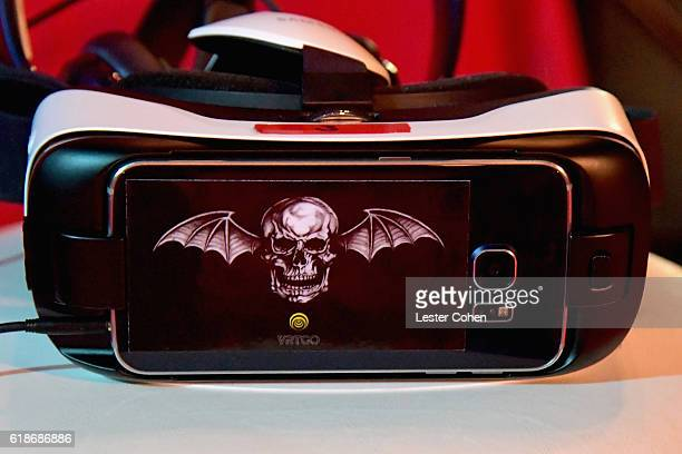 Samsung VR headset on display at the Avenged Sevenfold Groundbreaking Global VR Event Live at Iconic Capitol Records Building Band SurpriseReleased...