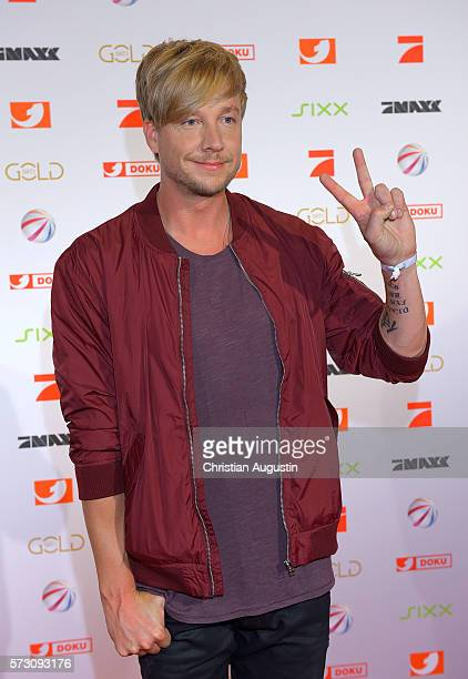 Samu Haber attends the photo call for the 2016 programme presentation of TV broadcasters ProSiebenSat1 Media at Cinemaxx Dammtor on July 13 2016 in...