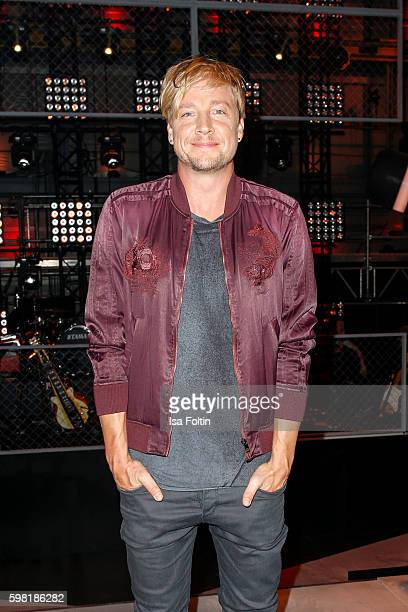 Samu Haber finnisch singer and frontman of the band Sunrise Avenue attends the photocall for the six season of 'The Voice of Germany' on August 31...