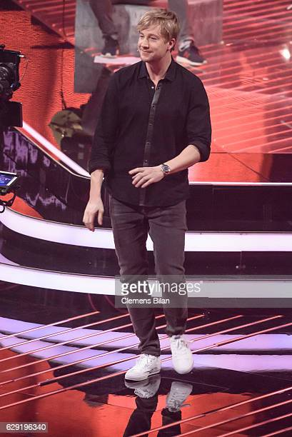 Samu Haber is seen on stage the 'The Voice of Germany' semi finals on December 11 2016 in Berlin Germany The finals will be aired on December 18 on...