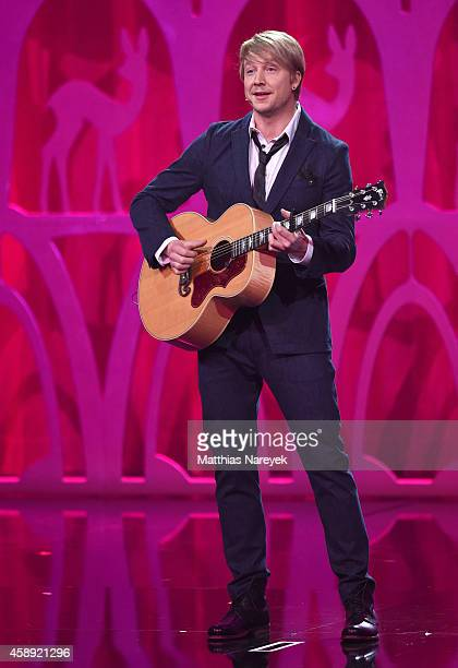 Samu Haber performs on stage during the Bambi Awards 2014 show on November 13 2014 in Berlin Germany