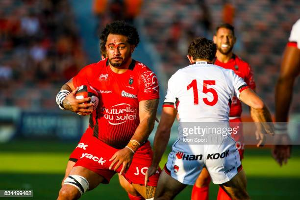 Samu Manoa of Toulon during the preseason match between Rc Toulon and Lyon OU at Felix Mayol Stadium on August 17 2017 in Toulon France
