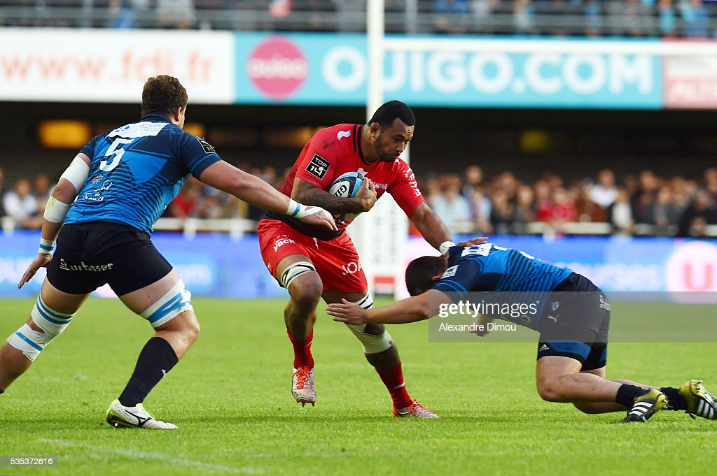 Samu Manoa of Toulon during the rugby Top 14 match between Montpelier and RC Toulon on May 29, 2016 in Montpellier, France.