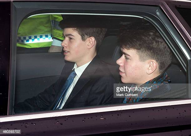 Samuel and Arthur Chatto attend a Christmas Lunch at Buckingham Palace on December 17 2014 in London England
