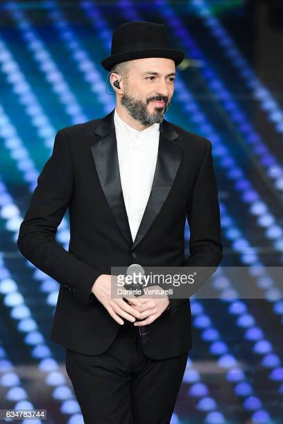 Samuel attends the closing night of 67th Sanremo Festival 2017 at Teatro Ariston on February 11 2017 in Sanremo Italy
