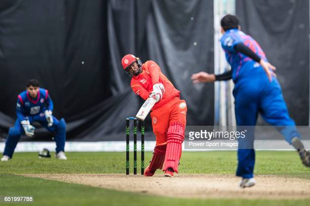 Samuel Badree of HKI United bats during the Hong Kong T20 Blitz match between Kowloon Cantons and HKI United at Tin Kwong Road Recreation Ground on...