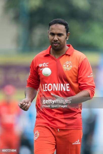 Samuel Badree of HKI United during the Hong Kong T20 Blitz match between Hung Hom JD Jaguars and HKI United at Tin Kwong Road Recreation Ground on...