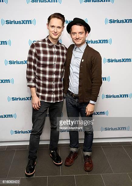 Samuel Barnett and Elijah Wood visit at SiriusXM Studio on October 21 2016 in New York City