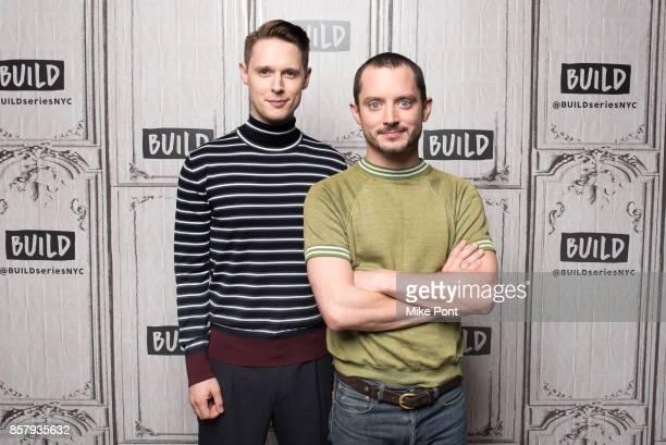 Samuel Barnett Elijah Wood visit Build Studio to discuss 'Dirk Gently's Holistic Detective Agency' at Build Studio on October 5 2017 in New York City