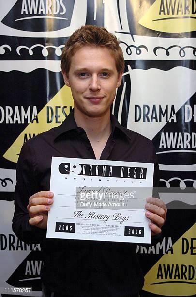 Samuel Barnett of 'The History Boys' during 2006 Drama Desk Award Nominations at Arte Cafe in New York City New York United States