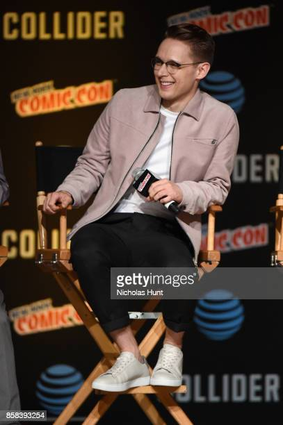 Samuel Barnett speaks onstage during the Dirk Gently's Holistic Detective Agency BBC AMERICA Official Panel during 2017 New York Comic Con on October...