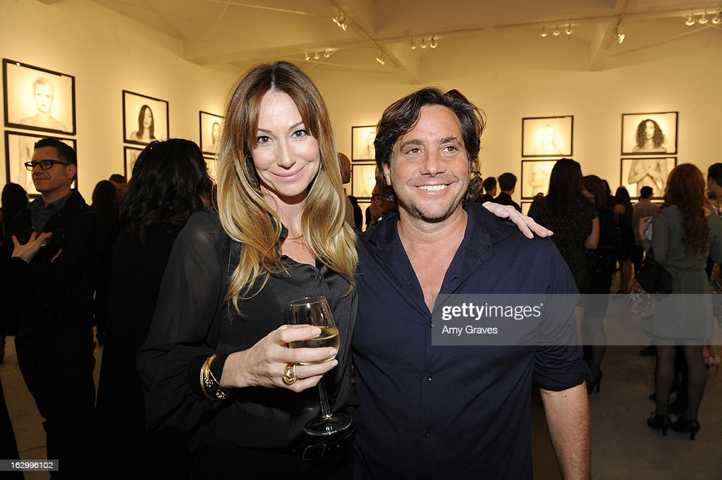 Samuel Bayer (R) attends the Samuel Bayer Ace Gallery Exhibit Opening, presented by Panavision at Ace Gallery on March 2, 2013 in Beverly Hills, California.