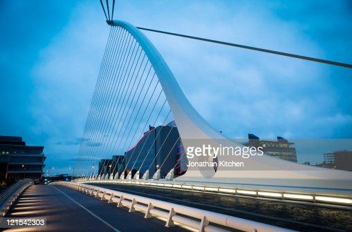Samuel Beckett Bridge Dublin Close up