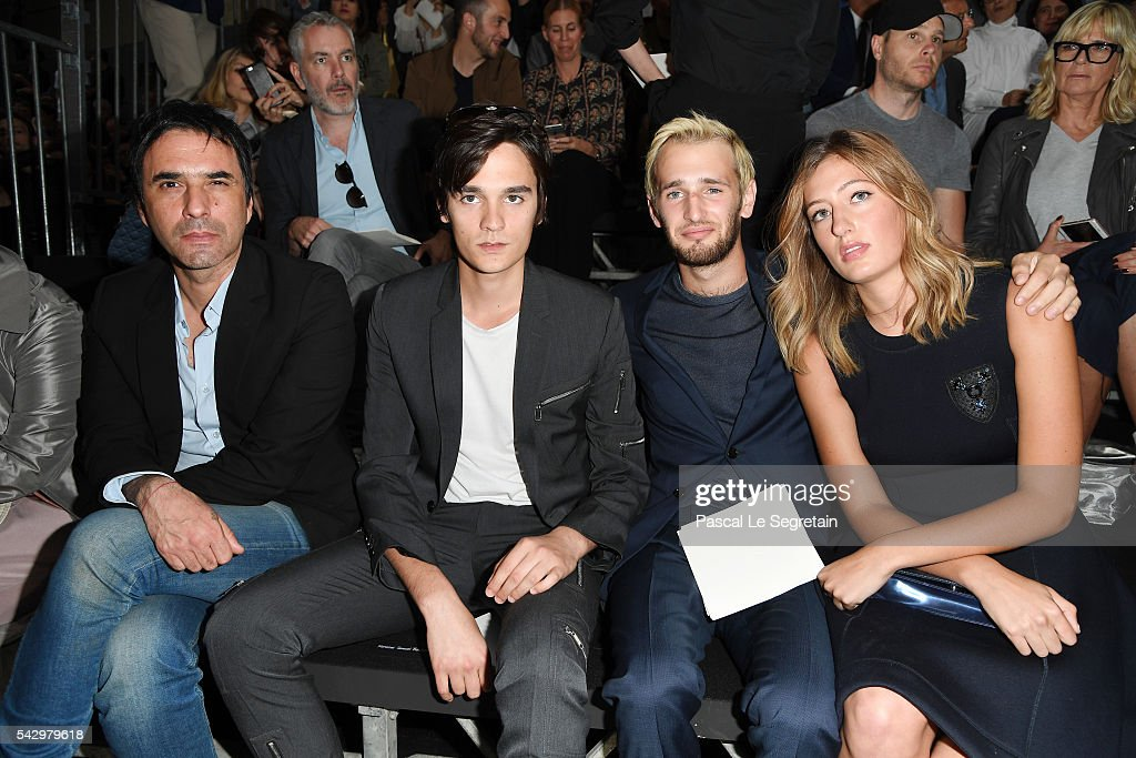 Samuel Benchetrit, Alain-Fabien Delon,Hopper Jack Penn and Uma Von Wittkamp attend the Dior Homme Menswear Spring/Summer 2017 show as part of Paris Fashion Week on June 25, 2016 in Paris, France.