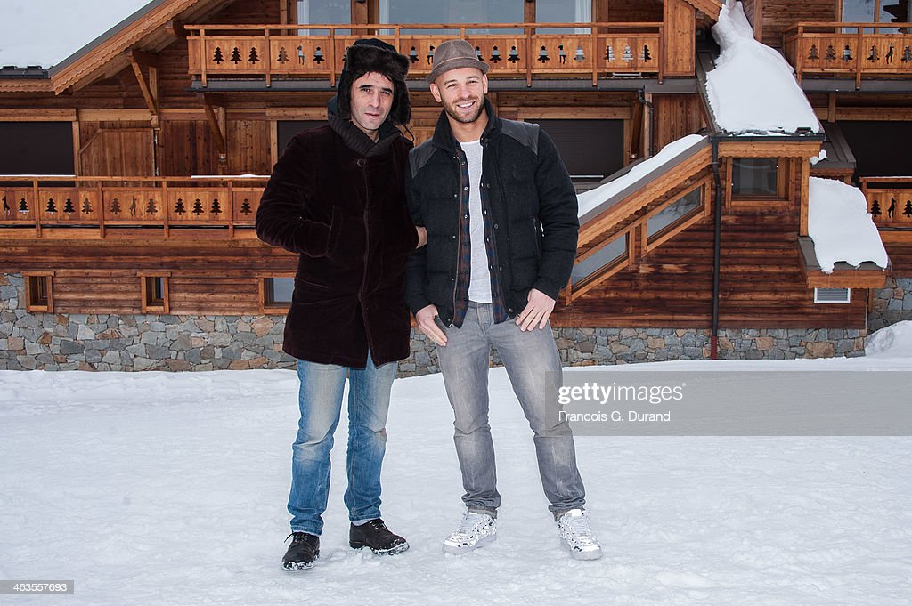 Samuel Benchetrit and Franck Gastambide attend a photocall for the movie 'Les Gazelles' during the 17th L'Alpe D'Huez International Comedy Film...