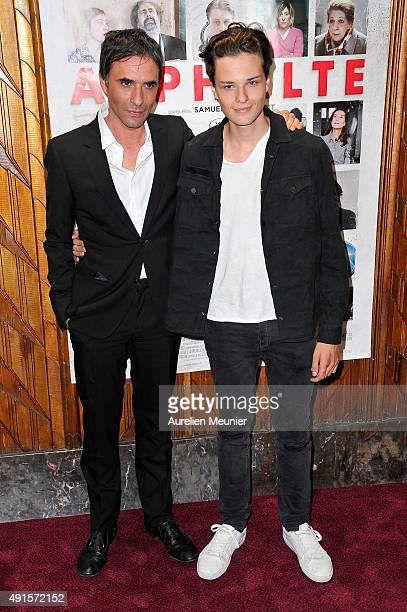 Samuel Benchetrit and Jules Benchetrit attend the 'Asphalte' Paris premiere at Cinema Gaumont Opera on October 6 2015 in Paris France