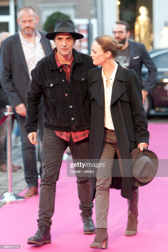 Samuel Benchetrit and Vanessa Paradis arrive at Namur Theater for the Award Ceremony of 32nd Namur International French-Language Film Festival on October 6, 2017 in Namur, Belgium.