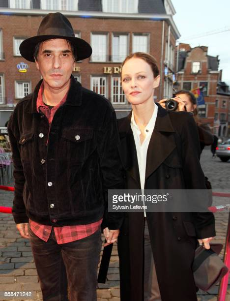 Samuel Benchetrit and Vanessa Paradis arrive at Namur Theater for the Award Ceremony of 32nd Namur International FrenchLanguage Film Festival on...