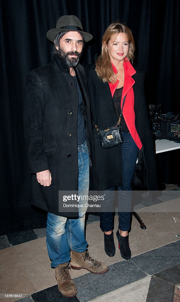 Samuel Benchetrit and Virginie Efira attend Etam Spring / Summer 2012 Collection Launch at Les BeauxArts de Paris on January 23 2012 in Paris France