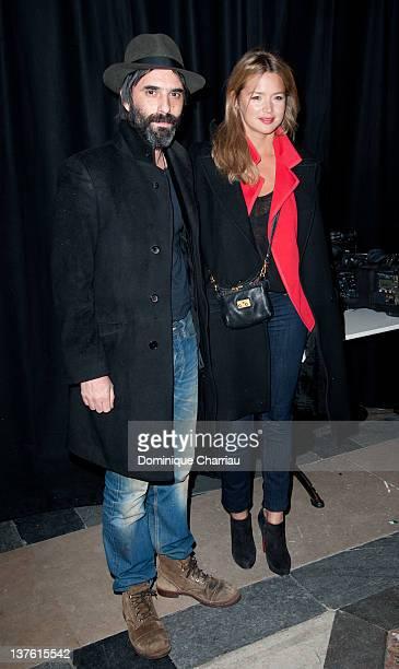 Samuel Benchetrit and Virginie Efira attend Etam Spring / Summer 2012 Collection Launch at Les BeauxArts de Paris on January 23 2012 in Paris France