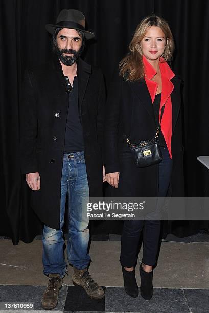 Samuel Benchetrit and Virginie Efira attend the Etam Spring / Summer 2012 Collection Launch at Les BeauxArts de Paris on January 23 2012 in Paris...