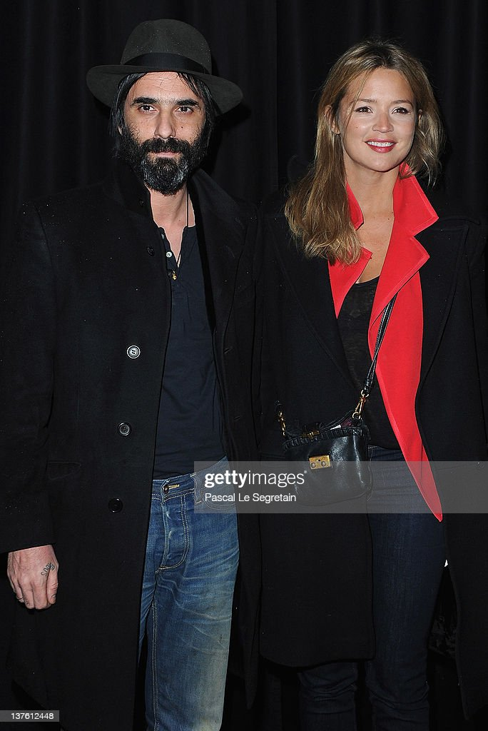 Samuel Benchetrit and Virginie Efira attend the Etam Spring / Summer 2012 Collection Launch at Les BeauxArts de Paris on January 23 2012 in Paris...