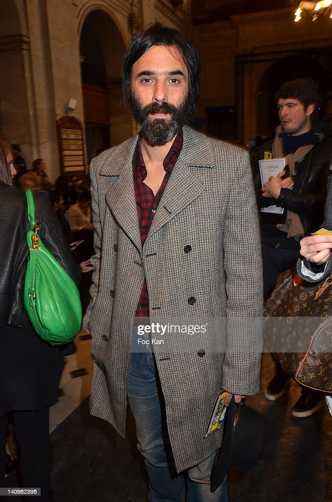 Samuel Benchetrit attends the JeanCharles de Castelbajac show during Paris Fashion Week Womenswear Fall/Winter 2012 at L'Oratoire Du Louvre on March...