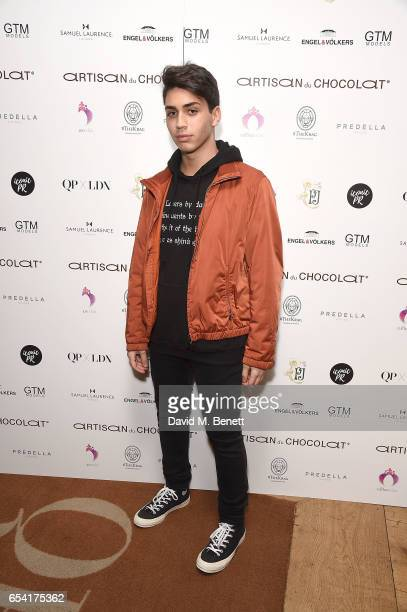Samuel Bensoussan attends the ICONIC PR LND and PerrierJouët art presention of works by Picasso Miro Matisse Chagall at QP LDN on March 16 2017 in...