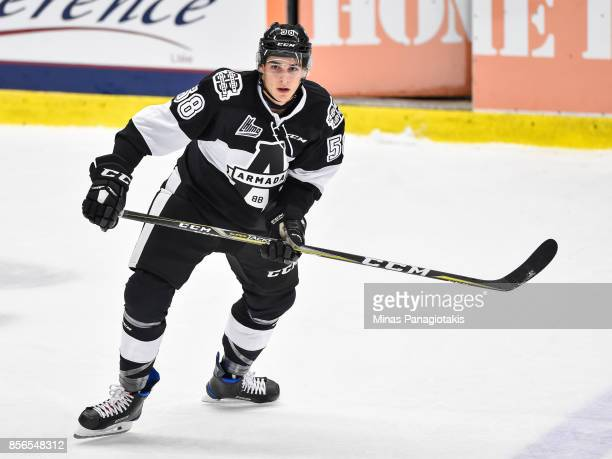 Samuel Bolduc of the BlainvilleBoisbriand Armada skates against the RouynNoranda Huskies during the QMJHL game at Centre d'Excellence Sports Rousseau...